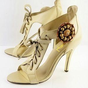 Yves Saint Laurent Lace up Open Toes Sandals 41